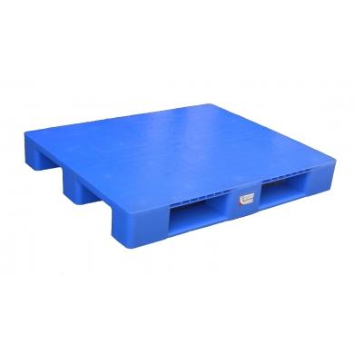 Pallet liso p/ Rack HDPE Reciclado azul