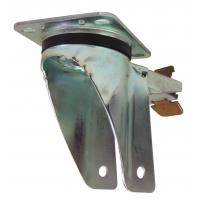 Base estampada zincada giratoria pesante de platina c/freno p/rueda 62